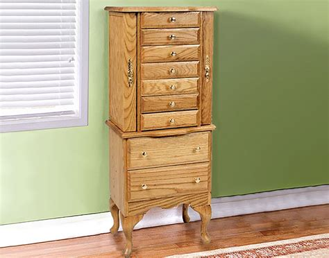 oak jewelry armoire clearance oak jewelry armoire