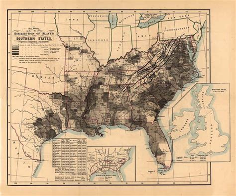Map Of The United States Slavery | united states slave map