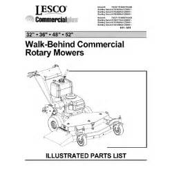 2001 lesco commercial walk behind parts manual share the
