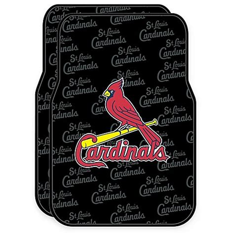rubber st expo mlb st louis cardinals rubber car floor mats set of 2