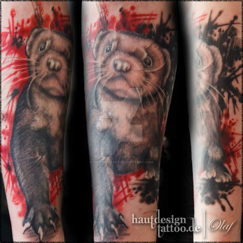 ferret tattoo ferret custom by og finestart on deviantart