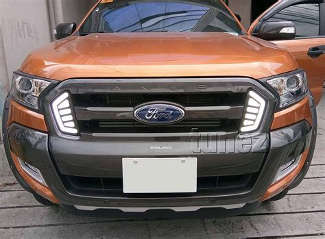 ford ranger lights daytime running light drl ford ranger t6 mk2 xl xlt xls