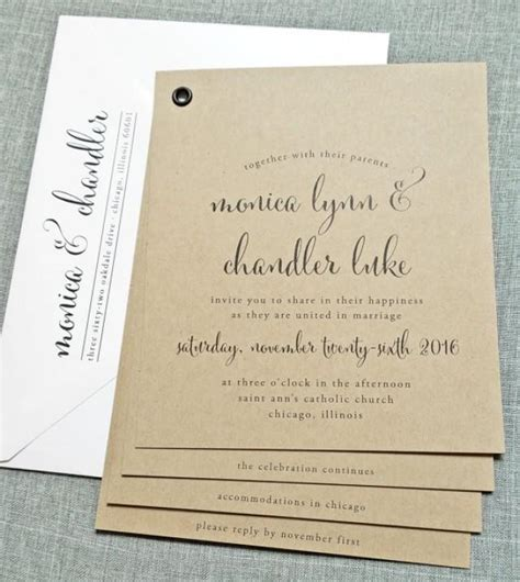 Wedding Invitations Booklet by Kraft Booklet Wedding Invitation Sle Black