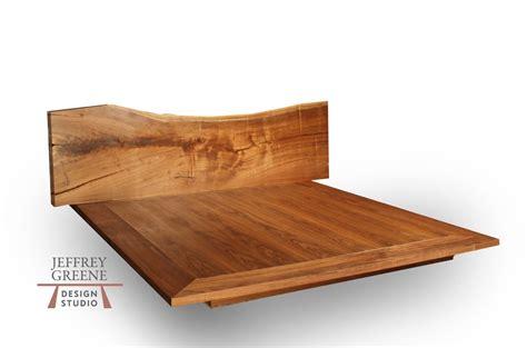 live edge bed live edge wood slab platform bed king size jeffrey greene