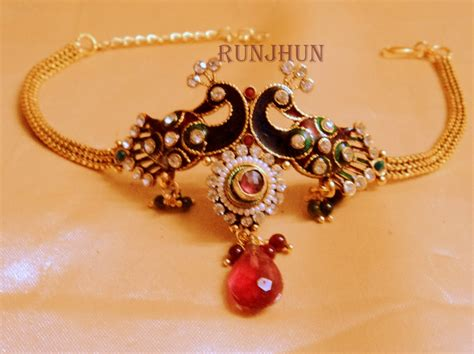 Craftsvilla Bajuband peacock bajuband shopping for bracelets n bangles by runjhun designer jewellery