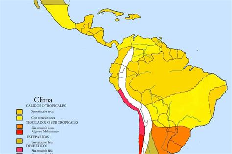 america mapa de climas climas y rios de america mapa clima en america