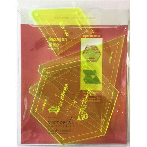 Hexagon Templates For Patchwork - matilda s own hexagon slices patchwork template set