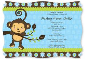 baby shower invitations baby shower invitations monkey theme