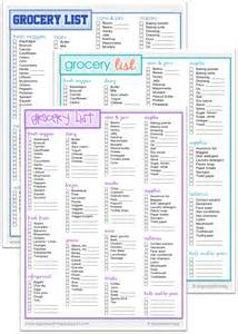 Organized Grocery List Template Organized Meg Grocery List Printables