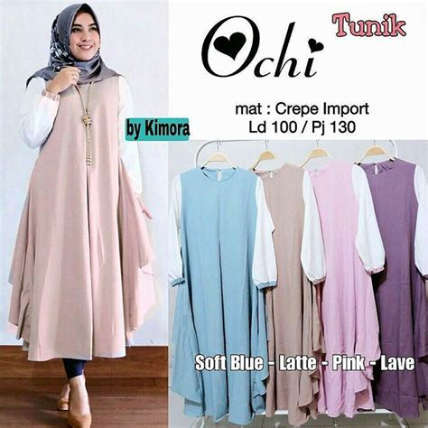 Termurah Baju Atasan Baju Muslim Atasan Marsya Tunik baju atasan ochi tunik slnk fashion muslim wanita