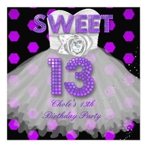 13th birthday card template sweet 13th birthday 13 purple card 13th