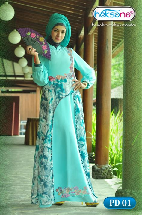 Only Gamis Dress Motif Bulu Angsa pd 01 by heksana baju muslim gamis modern