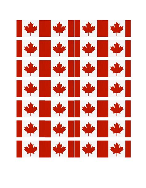 Lainycakes Canada Day Cupcakes With Free Printable Flag Canada Flag Template