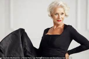 helen mirren hairstyles for l oreal dame helen mirren puts on a youthful display in l oreal