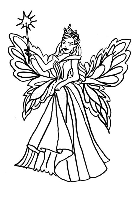 Ballerina Fairy Coloring Pages at GetColorings.com | Free