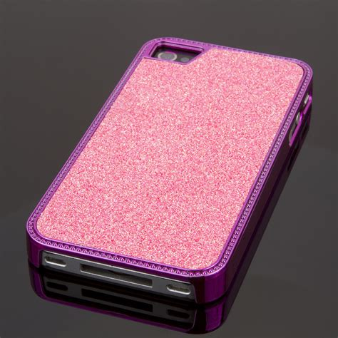Iphone 4 4s Superthin Casing Cover Pink Glitter Hardcase apple iphone 4 4s pink glitter glam accessoryexport