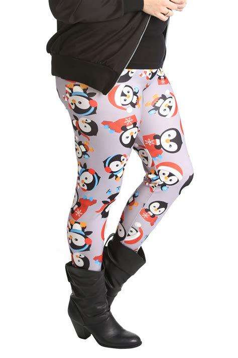 Penguin Sweater Legging new womens plus size penguin print length nouvelle ebay