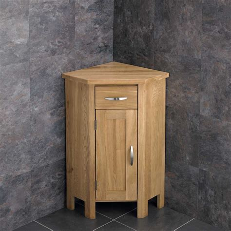 freestanding bathroom cabinet corner vanity unit glass