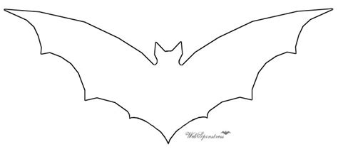 bat template bat silhouette cut out bat silhouette printable template