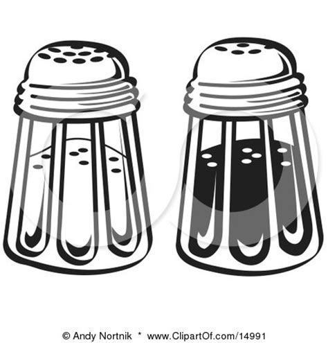 salt shaker tattoo salt and pepper shakers in a diner clipart illustration by