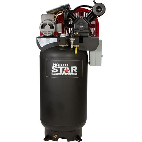 free shipping northstar electric air compressor 7 5 hp 80 gallon vertical 230 volt 24 4