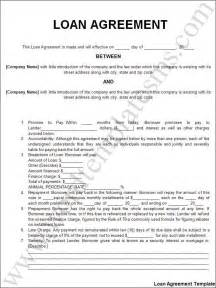 loan agreement template download page word excel formats