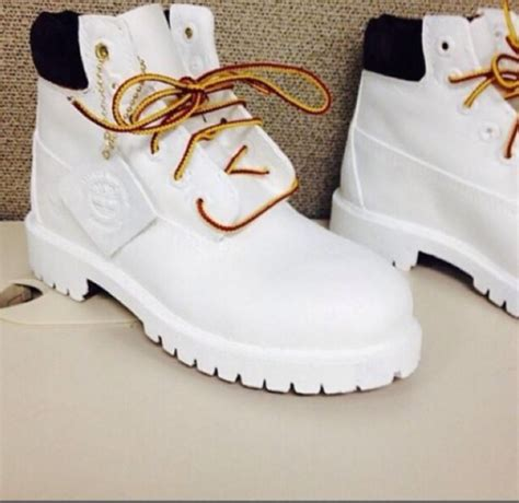 white and gold timberland boots shoes timberlands and gold chain white timberlands
