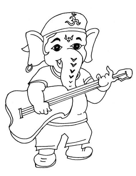 Bal Ganesha Coloring Games Coloring Pages Ganesha Coloring Pages