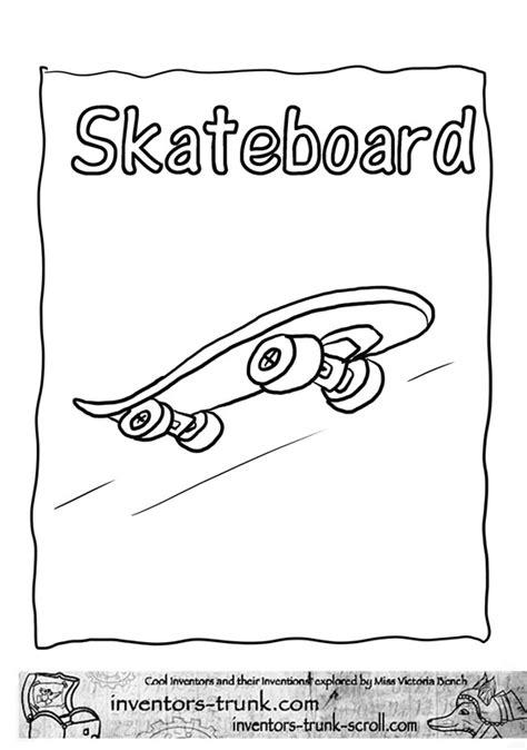 Nos jeux de coloriage Skateboard à imprimer gratuit