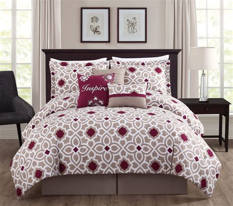 taupe bedding sets 7 inspire berry taupe comforter set