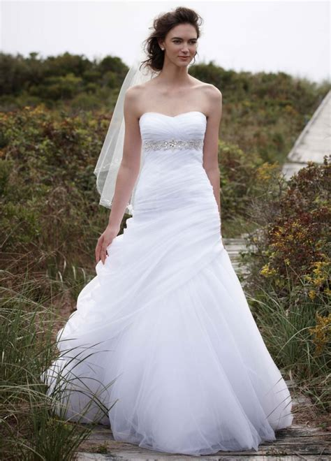 draping gown david s bridal strapless ruched beaded ball gown wedding