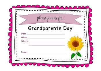 Grandparents Day Card Template by Grandparents And Special Friends Day Invitation By Miss