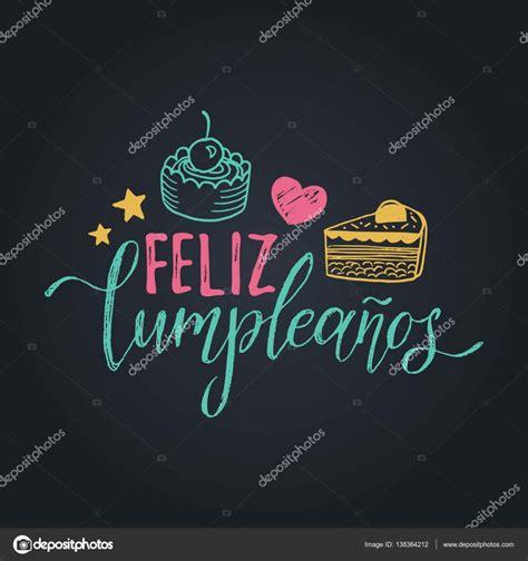 imagenes alegres de feliz cumpleaños feliz cumpleanos letras dise 241 o vector de stock