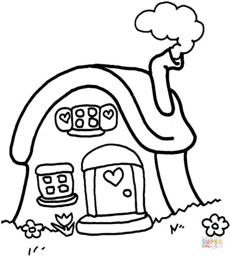 cottage house coloring page little cottage coloring page free printable coloring pages