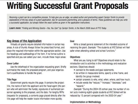 program design grant proposal tips for writing successful grant proposals 3 pages