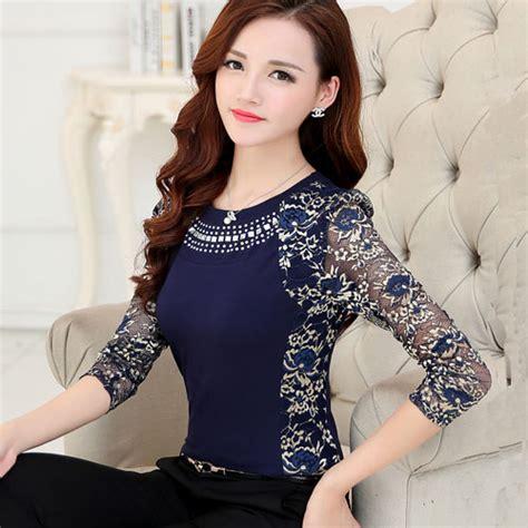Blouse Big Size Gliter Bintang 4 New 2015 High Quality S Plus Size Lace Blouse Shirts