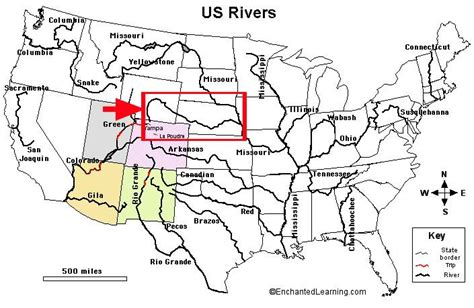 us map with states capitals and rivers cbase social studies bodies of water education 150 with