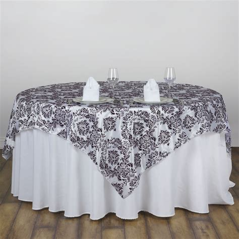 wedding table overlays 1 pc 60 quot x60 quot damask flocking table overlays buy wedding