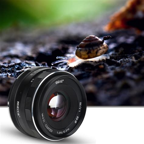 Meike 35mm F1 7 meike 35mm f1 7 fixed manual lens for mirrorless aps c