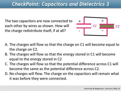 afterward what is the potential difference across c1 capacitor ppt physics 2112 unit 8 capacitors powerpoint presentation id 2265746