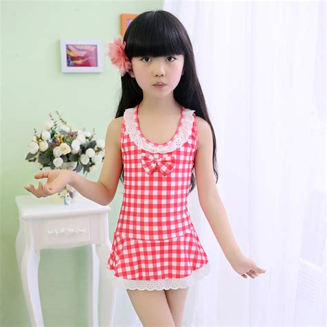 young girls swimwear age 13 older girls high quality one piece swimsuit with skirt