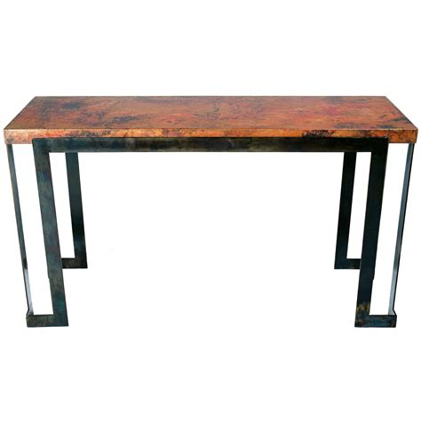 copper sofa table farm base console table copper sofa