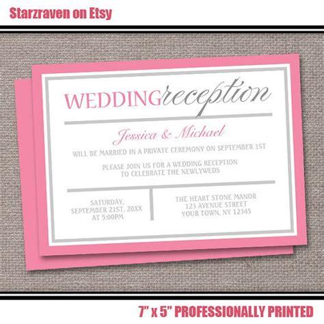 invitation wording wedding reception only best 25 reception only invitations ideas on
