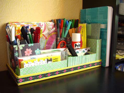 Diy Desk Organizer Desks Tutorials And Organizations Diy Desk Organization