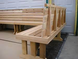 Cedar Bench Wrap Around Sectional Cedar Benches