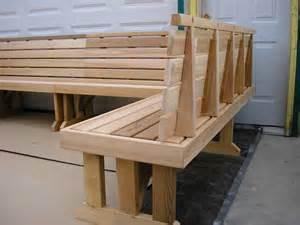 Cedar Bench Wrap Around Sectional Cedar Benches