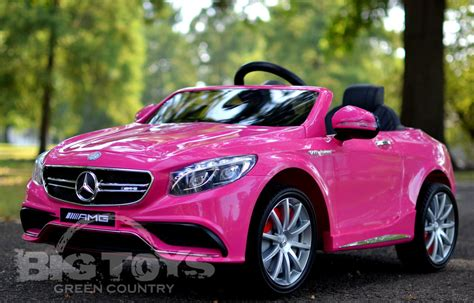 pink mercedes mercedes benz s63 with rc ride on power wheel w rubber