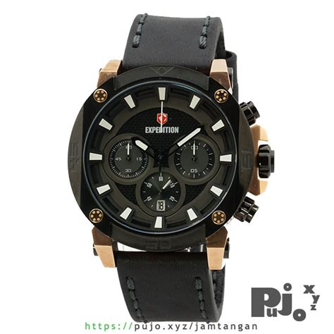G Ci Murah Black Rosegold jual expedition e 6606 kulit black gold jam