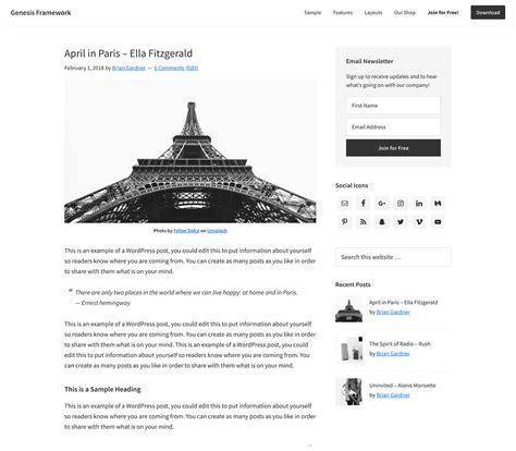 wordpress genesis layout fast wordpress hosting amazing mobile optimized themes