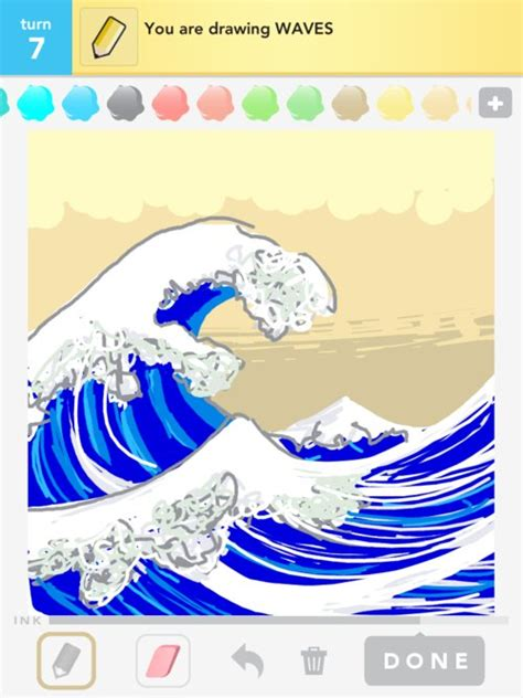 Drawing Waves by Wave Drawings How To Draw Wave In Draw Something The